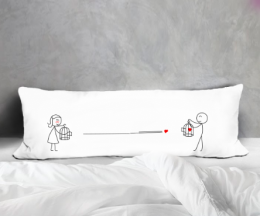 LOVE WILL FIND THE WAY BODY PILLOWCASE