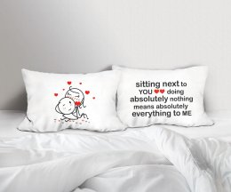 SITTING WITH YOU SET/2 PILLOWCASES