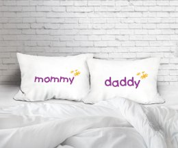 MOMMY&DADDY SET/2 PILLOW CASE