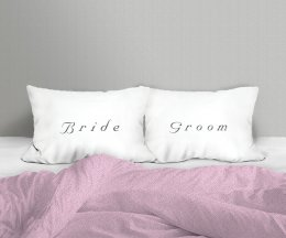 BRIDE/GROOM SET/2 PILLOW CASE