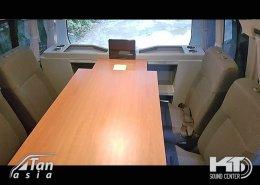 รถตู้ ดัดแปลง เป็นรถสำนักงาน และห้องประชุม