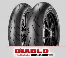 Pirelli DIABLO ROSSO II sc : 110/70R17+140/70R17