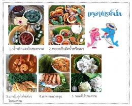 Local food at Ban Don Nai, Ban Laem District