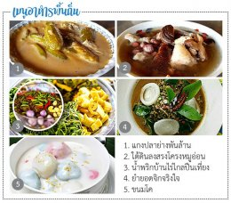 Local food at Ban Rang Jiki, Cha am District