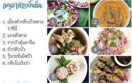 Local food at Ban Talat, Tha Yang District
