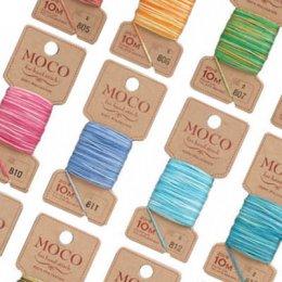 (เหลือสี 804,807,808,810,813,816,818,819) ไหมปัก MOCO (สีเหลือบ) ยาว 10 m