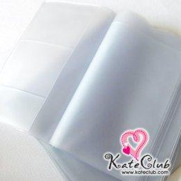 ไส้ในพลาสติกสีขาวขุ่นสำหรับใส่ book bank เย็บผ้าหุ้มทำปกน่ารักค่ะ (ขนาด 10.5 x 15.8 cm)