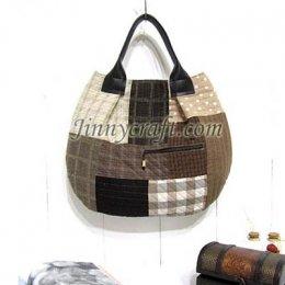 ชุดอุปกรณ์เย็บกระเป๋า Round Bigbag By JinnyQuilt