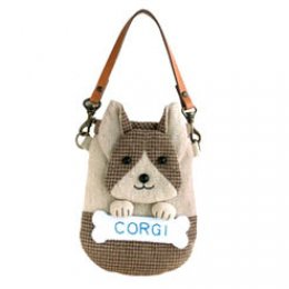 SALE - ชุดอุปกรณ์เย็บกระเป๋าใส่มือถือ Doggie  Corgi