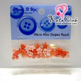 กระดุม Mico Mini Shapes Peach - 3251