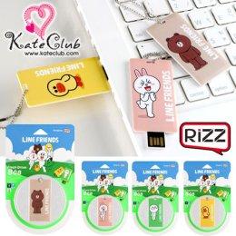 (Green-Moon, Orange-Cony หมดค่ะ) Rizz USB Flash Drive 8 GB Line Friends