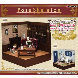 (พร้อมส่ง 1 เซทค่ะ) Re-ment Pose Skeleton Western Style Room Set (Scale 1:18)