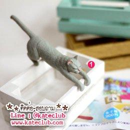 (พร้อมส่งเบอร์ 1) กาชาปอง - น้องแมวเกาะขอบแก้ว (ความยาวประมาณ 8 cm)