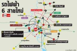"""เสนอ""""คมนาคม""""สร้างรถไฟฟ้าสายใหม่ 6 เส้นทาง เชื่อมต่อสถานีหลักรองรับการเดินทางรอบเมืองหลวง"""