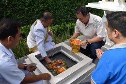 เดอะคิวบ์ พลัส มีนบุรี ทำพิธีอัญเชิญท้าวมหาพรหมประดิษฐานภายในโครงการ