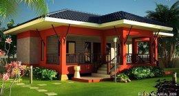 แบบบ้านชั้นเดียวสวยแปลกแต่มีสไตล์ (พร้อมแปลน)