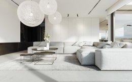 ห้องนั่งเล่นสีขาว อิสระแห่งการพักผ่อน