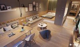 ตกแต่งห้องสตูดิโอขนาดกระทัดรัดในสไตล์ญี่ปุ่น (minimalist)