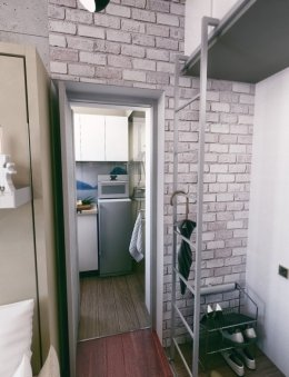 ออกแบบห้องขนาด 21 ตารางเมตร ให้รองรับกับผู้พักอาศัยสามคน