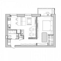 การตกแต่งที่พักอาศัยของคู่รักหนุ่มสาว ที่มีพื้นที่เพียง 48 ตารางเมตร