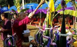 พิธีวางศิลาฤกษ์อุโบสถวัดถ้ำดอกคำ วันที่ 15 ธันวาคม 2557