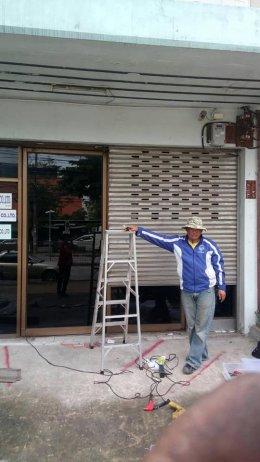 ซ่อมประตูม้วน ลาซาล บางนา งานเปลี่ยนใบประตูม้วน