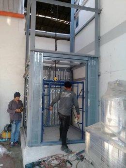 ซ่อมประตูม้วน  เทศบาลตำบลท่าจีน สมุทรสาคร งานติดตั้งประตูยืด 3 ชุด