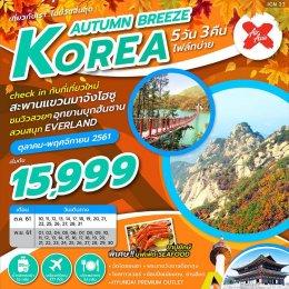 ทัวร์เกาหลี : KOREA AUTUMN BREEZE 5D3N (XJ)