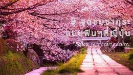 9 จุดชมซากุระแบบฟินๆที่ญี่ปุ่น