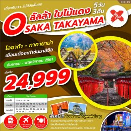 ทัวร์ญี่ปุ่น : ลัลลา ใบไม้แดง Osaka Takayama 5D3N
