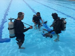 """อบรม """"ชุดกล้องถ่ายภาพใต้น้ำ"""""""