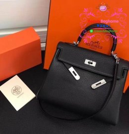 Hermes kelly togo leather สีดำ Hiend 1:1