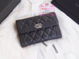 Chanel wallet caviar  สีดำ original leather