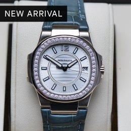Patek Nautilus 7010G White Gold Diamond 33m P8XxxxxB