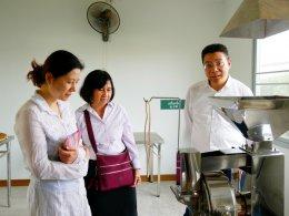 Longhua Hospital Shanghai University of TCM เยี่ยมชมหัวเฉียวศูนย์การเรียนรู้สมุนไพรจีนแบบครบวงจร