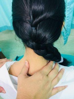 ผลการรักษา อาการปวดต้นคอด้านซ้าย