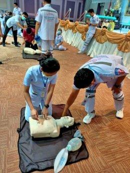 อบรมการช่วยชีวิตขั้นพื้นฐานและการใช้เครื่อง AED
