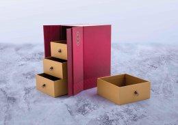กล่องบานประตูลิ้นชักฝาแม่เหล็กพิมพ์ลาย (บรรจุได้ 4 ชิ้นใหญ่) รหัส P-D25