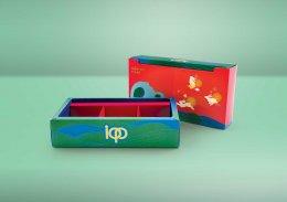 กล่องฝาบน-เปิดกลาง-พิมพ์ลาย (บรรจุได้ 3 ชิ้นเล็ก) รหัส P-F8