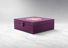 กล่องพรีเมี่ยม-บานพับ-พิมพ์ลาย (บรรจุได้ 4 ชิ้นใหญ่) รหัส P-H13