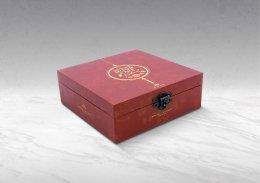 กล่องพรีเมี่ยม-บานพับ-พิมพ์ลาย (บรรจุได้ 9 ชิ้นเล็ก) รหัส P-H14