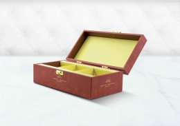 กล่องพรีเมี่ยม-บานพับ-พิมพ์ลาย (บรรจุได้ 3 ชิ้นเล็ก) รหัส P-H17
