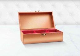 กล่องพรีเมี่ยม-บานพับ-หุ้มด้วยกระดาษพิเศษ-พิมพ์ลาย (บรรจุได้ 2/3 ชิ้น) รหัส P-H18