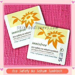 Tester Innisfree Eco Safety No Sebum Sunblock