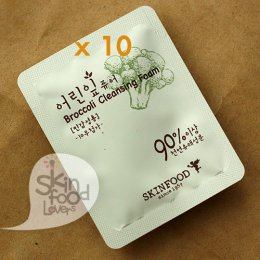 Tester Skinfood Broccoli Cleansing Foam 10ชิ้น