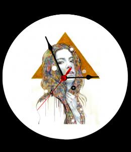 นาฬิกาพิมพ์รูป Woman&art clock