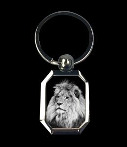 พวงกุญแจลาย Black&white Lion design