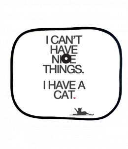 ม่านบังแดด I cant have nice things I have a cat sunshade