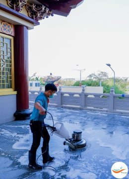 ขอขอบพระคุณ สถาบันพุทธศาสนา วัดเถรวาท-มหายาน โฝวกวงซัน ที่เลือกใช้บริการทำความสะอาด Deep cleaning ของ Cleanness By Clean For Green