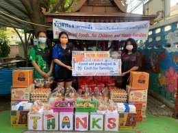 100 Food aid packaged and cash for families